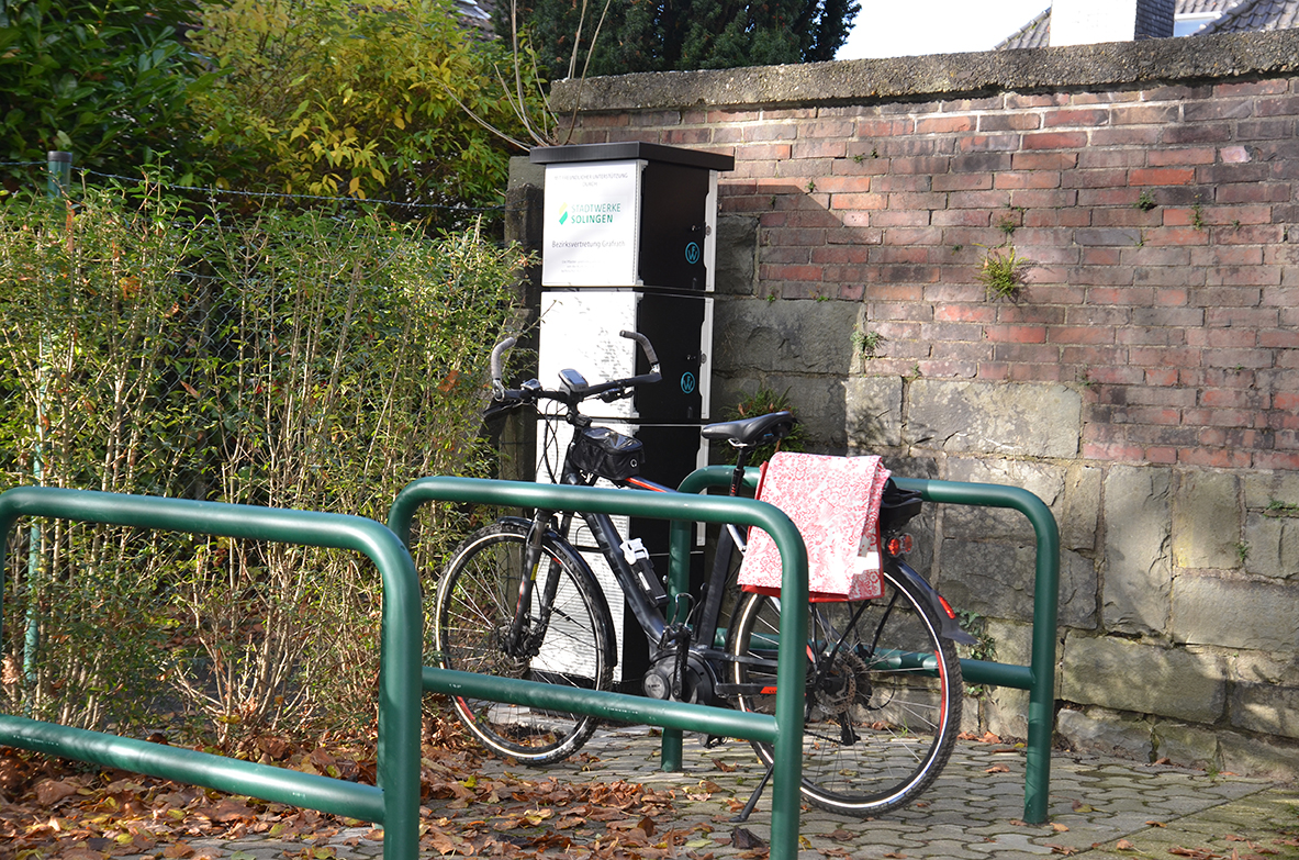 Die E-Bike-Ladestation